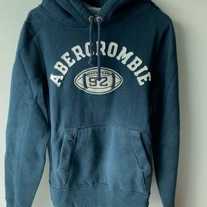 Abercrombie & Fitch classic hoodie dark navy